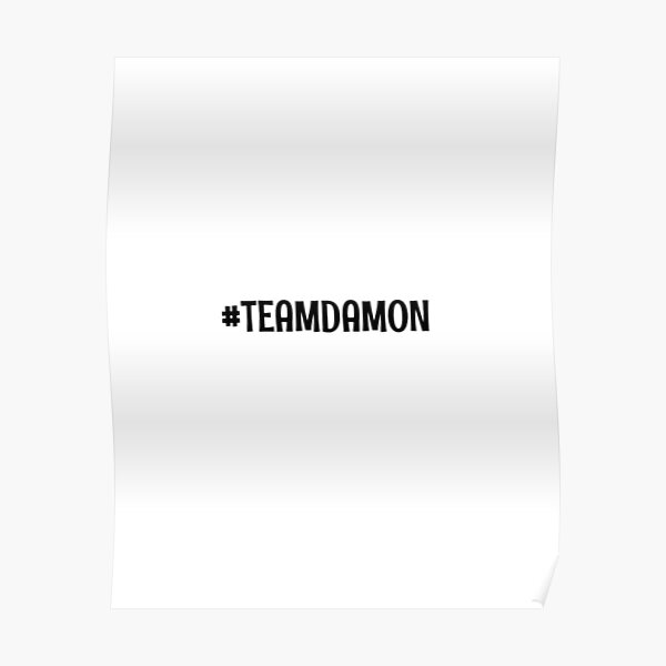 Team Damon Poster RB2904product Offical Vampire Diaries Merch