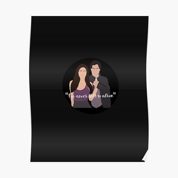 I've never felt so alive sticker Poster RB2904product Offical Vampire Diaries Merch