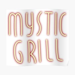Mystic Grill Neon Sign Poster RB2904product Offical Vampire Diaries Merch