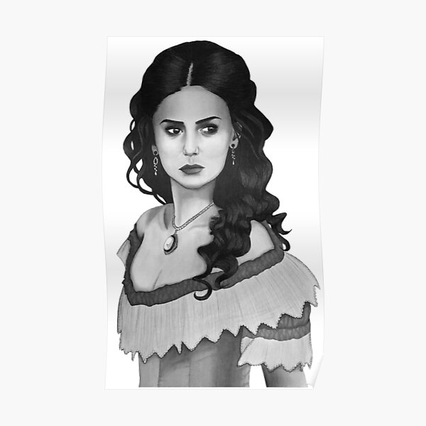 Katherine Pierce Drawing Poster RB2904product Offical Vampire Diaries Merch