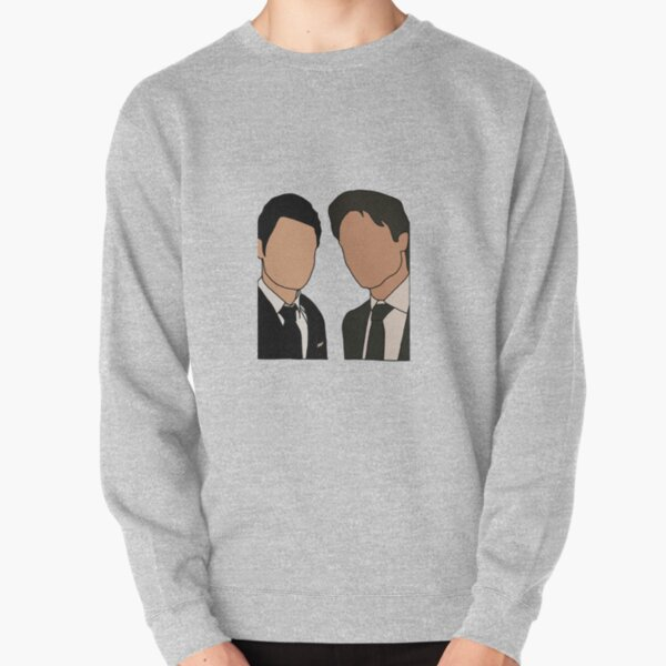 Stefan and Damon in suits  Pullover Sweatshirt RB2904product Offical Vampire Diaries Merch