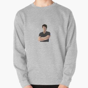 Damon Salvatore Sticker Pullover Sweatshirt RB2904product Offical Vampire Diaries Merch