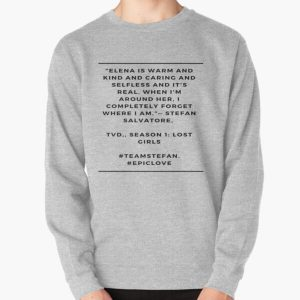 TVD.  STEFAN AND ELENA Pullover Sweatshirt RB2904product Offical Vampire Diaries Merch