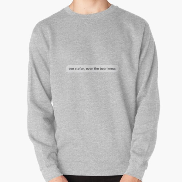 See Stefan, even the bear knew Pullover Sweatshirt RB2904product Offical Vampire Diaries Merch