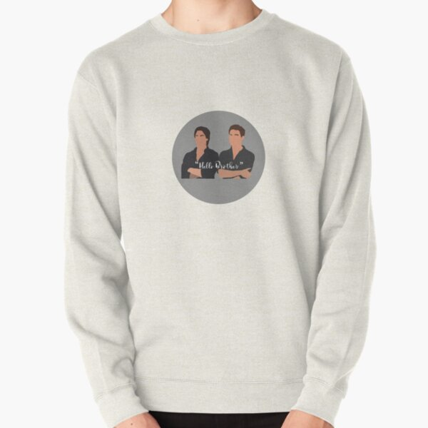 Hello Brother with Characters Pullover Sweatshirt RB2904product Offical Vampire Diaries Merch