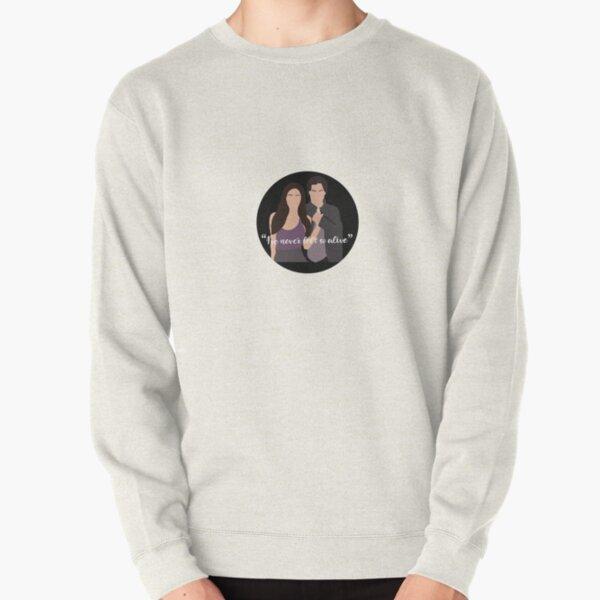 I've never felt so alive sticker Pullover Sweatshirt RB2904product Offical Vampire Diaries Merch