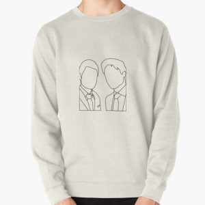 Stefan and Damon transparent Pullover Sweatshirt RB2904product Offical Vampire Diaries Merch