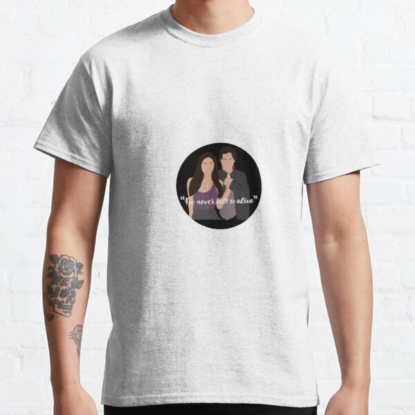 I've never felt so alive sticker Classic T-Shirt RB2904product Offical Vampire Diaries Merch