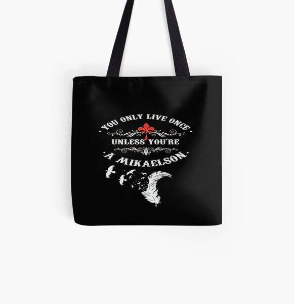 M ByTe Mikaelson All Over Print Tote Bag RB2904product Offical Vampire Diaries Merch