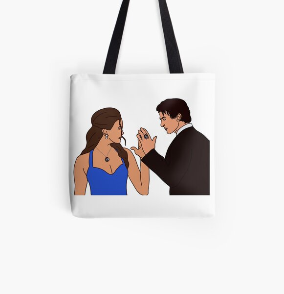 Damon and Elena All Over Print Tote Bag RB2904product Offical Vampire Diaries Merch