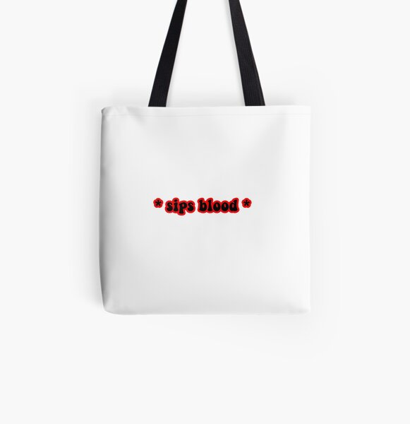 * sips blood * design All Over Print Tote Bag RB2904product Offical Vampire Diaries Merch