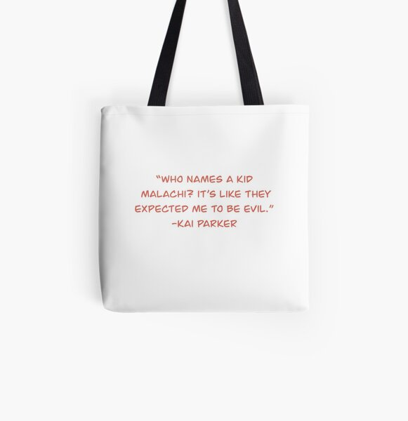 Kai Parker Quote All Over Print Tote Bag RB2904product Offical Vampire Diaries Merch