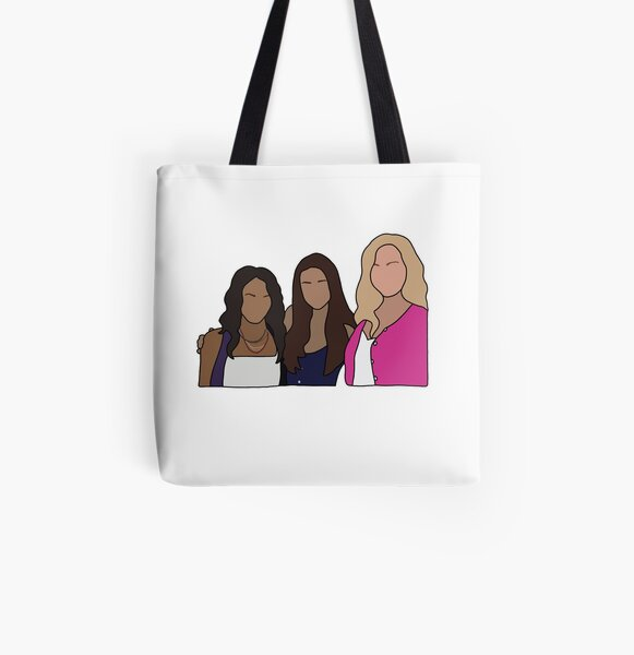 Bonnie, Elena & Caroline All Over Print Tote Bag RB2904product Offical Vampire Diaries Merch