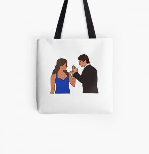 Elena and Damon All Over Print Tote Bag RB2904product Offical Vampire Diaries Merch