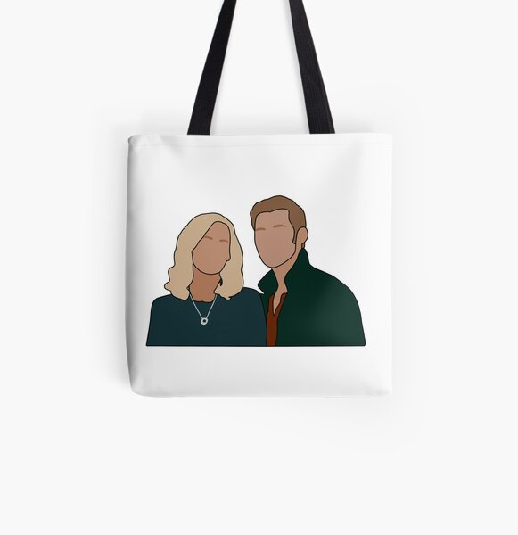 Caroline and Klaus All Over Print Tote Bag RB2904product Offical Vampire Diaries Merch