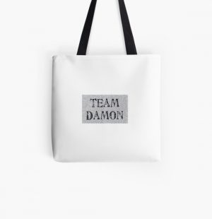 Team Damon All Over Print Tote Bag RB2904product Offical Vampire Diaries Merch
