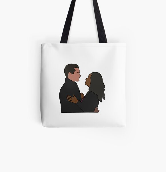Bonnie and Enzo All Over Print Tote Bag RB2904product Offical Vampire Diaries Merch