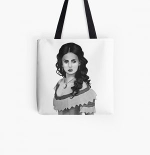 Katherine Pierce Drawing All Over Print Tote Bag RB2904product Offical Vampire Diaries Merch