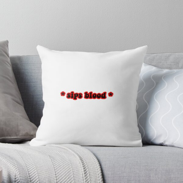 * sips blood * design Throw Pillow RB2904product Offical Vampire Diaries Merch