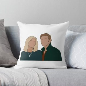 Caroline and Klaus Throw Pillow RB2904product Offical Vampire Diaries Merch
