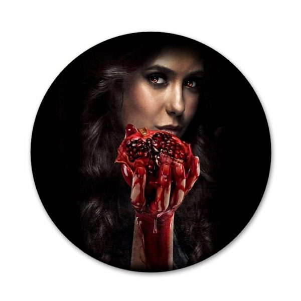 58mm The Vampire Diaries Badge Brooch Pin Accessories For Clothes Backpack Decoration gift 2 - Vampire Diaries Merch