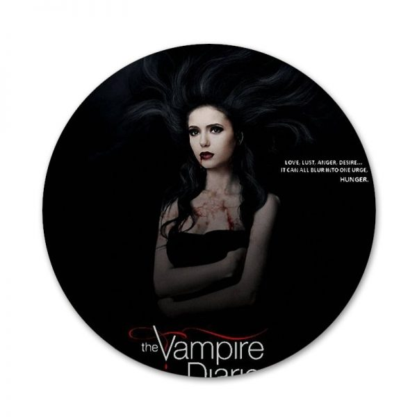 58mm The Vampire Diaries Badge Brooch Pin Accessories For Clothes Backpack Decoration gift 3 - Vampire Diaries Merch