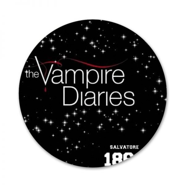 58mm The Vampire Diaries Badge Brooch Pin Accessories For Clothes Backpack Decoration gift 5 - Vampire Diaries Merch