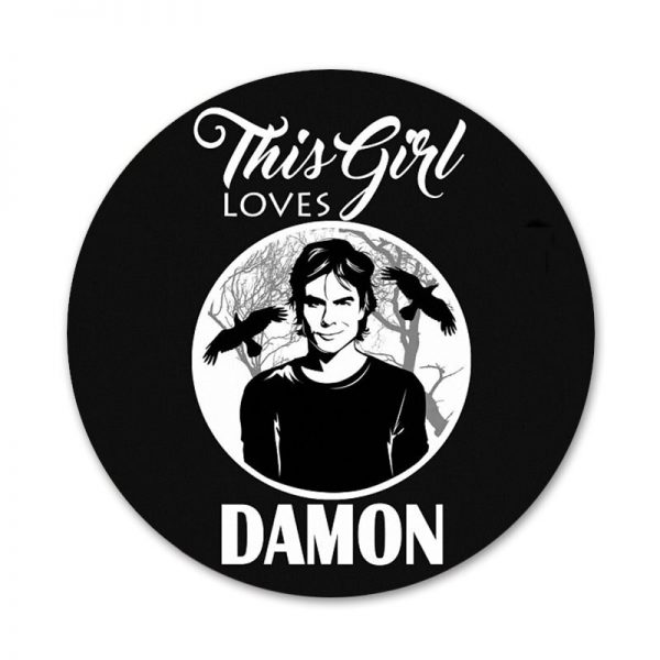 58mm Vampire Diaries Stefan Damon Salvatore Icons Pins Badge Decoration Brooches Metal Badges For Clothes Backpack 1 - Vampire Diaries Merch