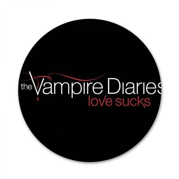 58mm Vampire Diaries Stefan Damon Salvatore Icons Pins Badge Decoration Brooches Metal Badges For Clothes Backpack 3 - Vampire Diaries Merch