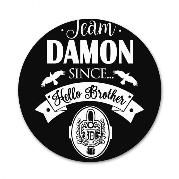 58mm Vampire Diaries Stefan Damon Salvatore Icons Pins Badge Decoration Brooches Metal Badges For Clothes Backpack 4 - Vampire Diaries Merch