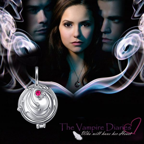 925 silver Verbena pendant necklace women ornament silver with zirconium Elina ornament the Vampire Diaries fashion 1 - Vampire Diaries Merch
