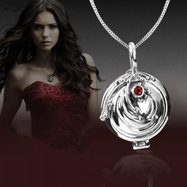 925 silver Verbena pendant necklace women ornament silver with zirconium Elina ornament the Vampire Diaries fashion 2 - Vampire Diaries Merch