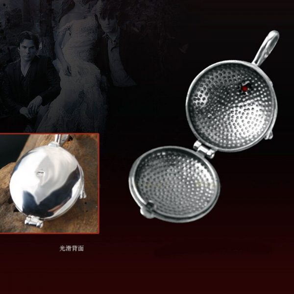 925 silver Verbena pendant necklace women ornament silver with zirconium Elina ornament the Vampire Diaries fashion 3 - Vampire Diaries Merch