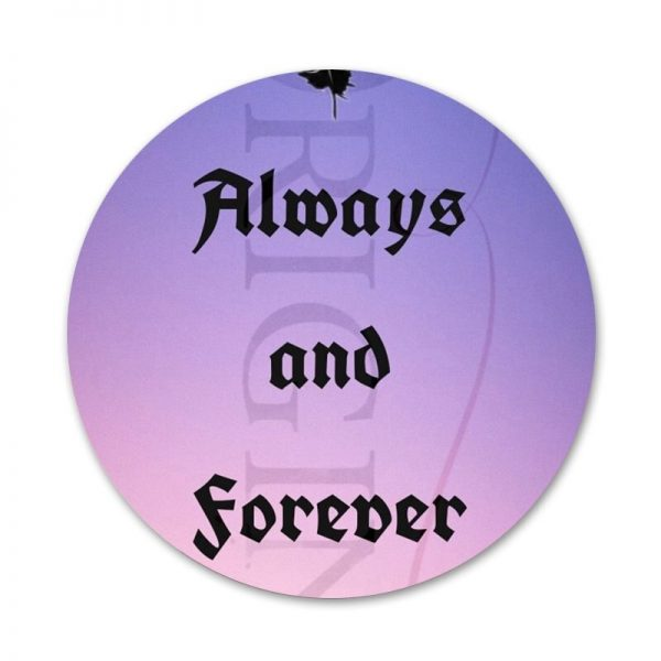 Always and Forever The Vampire Diaries Icons Pins Badge Decoration Brooches Metal Badges For Clothes Backpack 1 - Vampire Diaries Merch