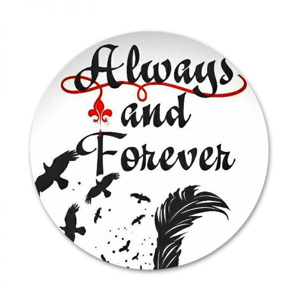 Always and Forever The Vampire Diaries Icons Pins Badge Decoration Brooches Metal Badges For Clothes Backpack 2 - Vampire Diaries Merch