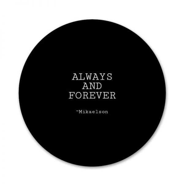 Always and Forever The Vampire Diaries Icons Pins Badge Decoration Brooches Metal Badges For Clothes Backpack 3 - Vampire Diaries Merch