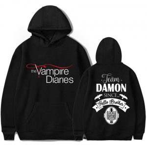 Hoodies - Damon Salvatore VPD0109 Black / S Official Vampire Diaries Merch