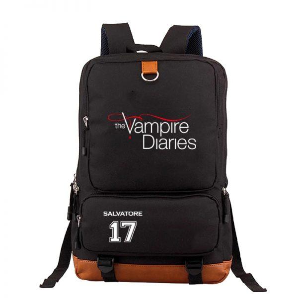 Cool The Vampire Diaries Backpack Boys Girls Mens Women Book Bags Teens Students School Rucksack Travel 1 - Vampire Diaries Merch
