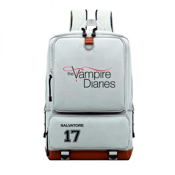 Cool The Vampire Diaries Backpack Boys Girls Mens Women Book Bags Teens Students School Rucksack Travel - Vampire Diaries Merch