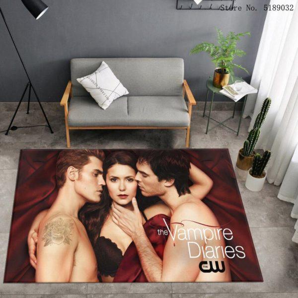 Custom The Vampire Diaries Carpet Bedroom Bedside Area Rug Bathroom Kitchen Dust Mat Movies Entrance Doormats 1 - Vampire Diaries Merch
