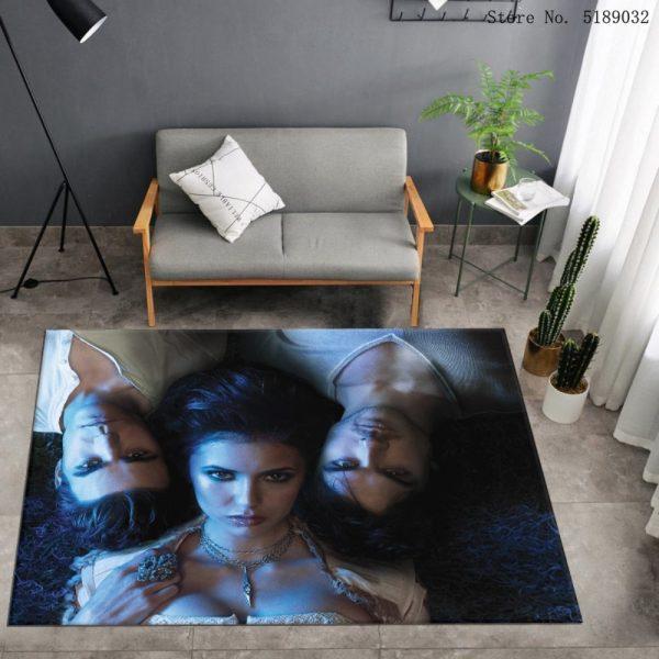 Custom The Vampire Diaries Carpet Bedroom Bedside Area Rug Bathroom Kitchen Dust Mat Movies Entrance Doormats 2 - Vampire Diaries Merch
