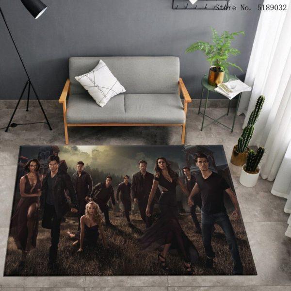Custom The Vampire Diaries Carpet Bedroom Bedside Area Rug Bathroom Kitchen Dust Mat Movies Entrance Doormats 4 - Vampire Diaries Merch