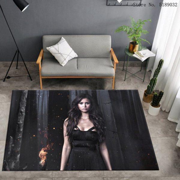 Custom The Vampire Diaries Carpet Bedroom Bedside Area Rug Bathroom Kitchen Dust Mat Movies Entrance Doormats 5 - Vampire Diaries Merch