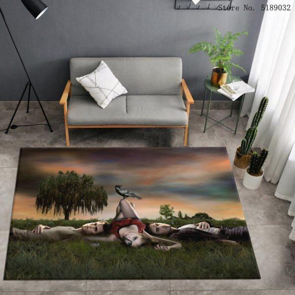 Custom The Vampire Diaries Carpet Bedroom Bedside Area Rug Bathroom Kitchen Dust Mat Movies Entrance Doormats - Vampire Diaries Merch
