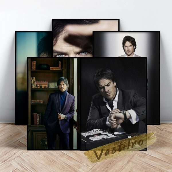 Damon Salvatore Poster Fictional Character Painting Handsome Man Art Prints The Vampire Diaries Role Wall Picture 1 - Vampire Diaries Merch