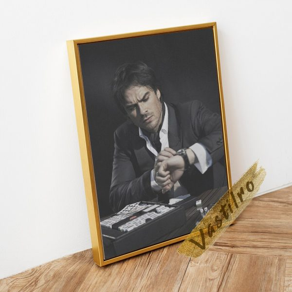 Damon Salvatore Poster Fictional Character Painting Handsome Man Art Prints The Vampire Diaries Role Wall Picture 2 - Vampire Diaries Merch