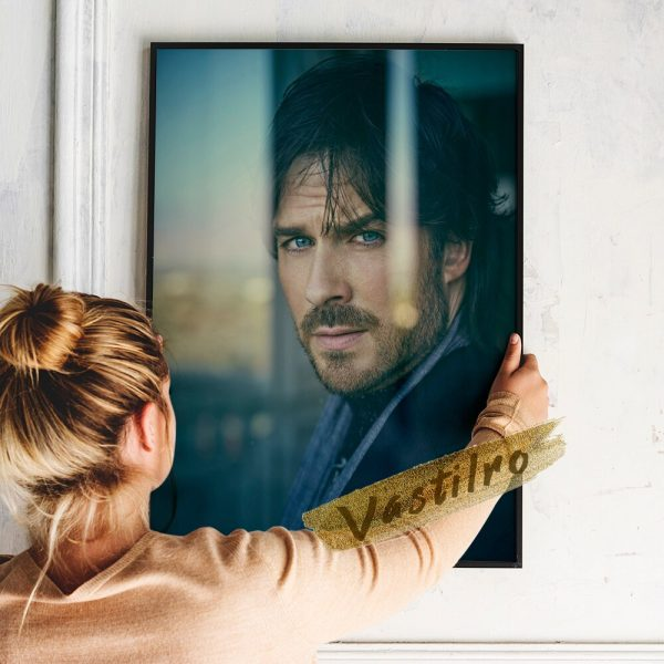 Damon Salvatore Poster Fictional Character Painting Handsome Man Art Prints The Vampire Diaries Role Wall Picture 5 - Vampire Diaries Merch