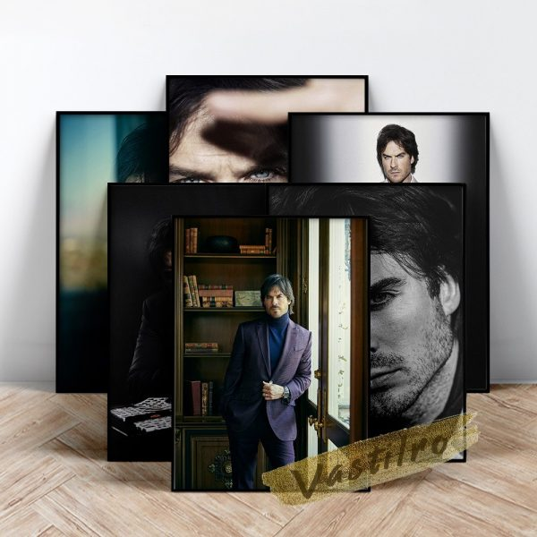 Damon Salvatore Poster Fictional Character Painting Handsome Man Art Prints The Vampire Diaries Role Wall Picture - Vampire Diaries Merch