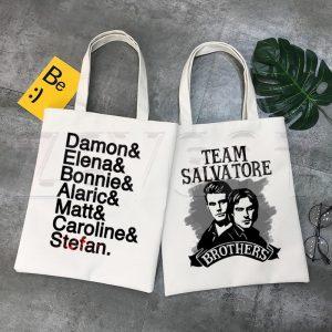 Tote Bags - The Vampire Diaries VPD0109 Damon Official Vampire Diaries Merch