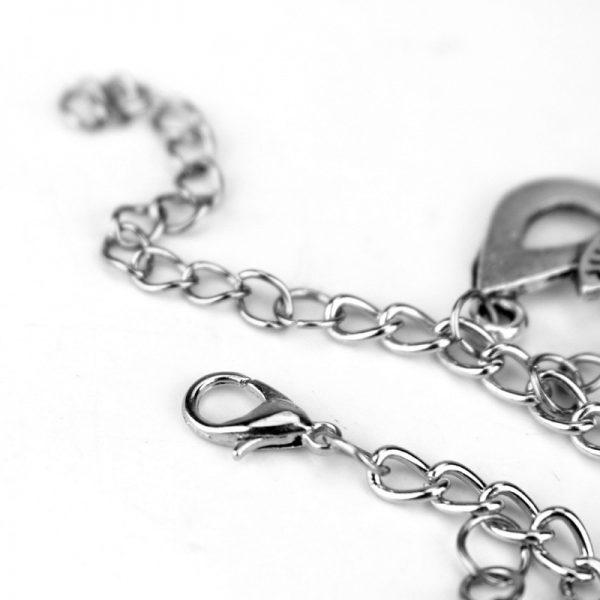 HEYu Vampire Diaries Crystal Beads Charm Alloy Bracelet Bangle Wristlet Elena Stefan Damon Fandom Gift For 5 - Vampire Diaries Merch